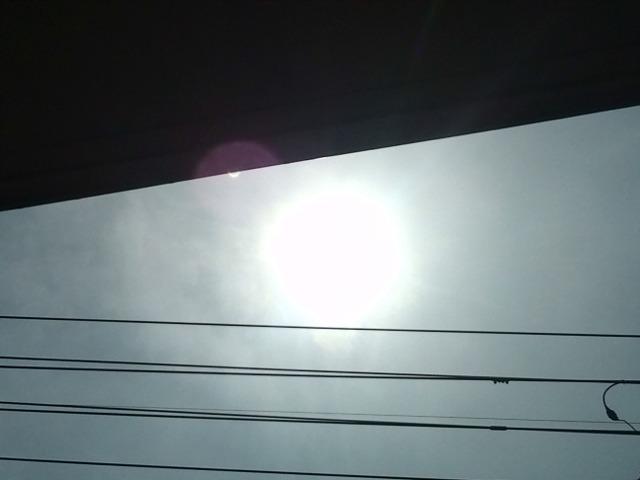 11時5分56秒の下関の皆既日食