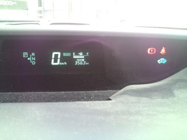 プリウスの速度計と燃料計