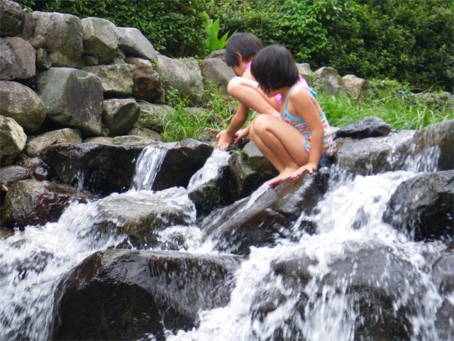 夏は水遊び
