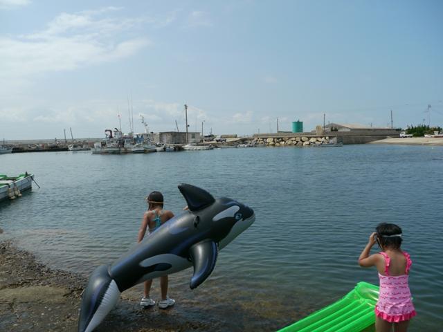 蓋井島で海水浴♪